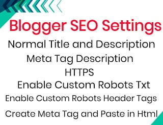 Do Some Special SEO Setting of Blogger ?