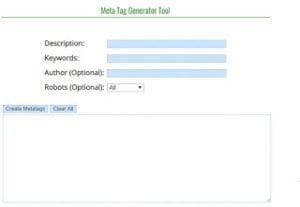Meta Tag Generator