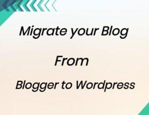 Migrate blogger to wordpress