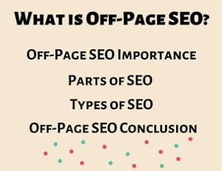 OFF-Page SEO, Parts and Types of Off-Page SEO