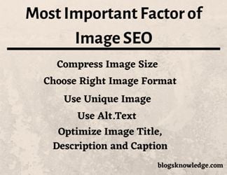 Most Important Factors to make Perfect Image SEO