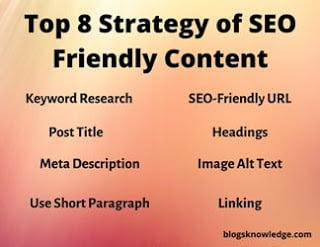 Top 8 Strategy of Making SEO Friendly Content?
