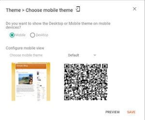 Blogger mobile settings