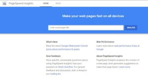 Google plagespeed