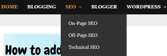 Blogsknowledge dropdown