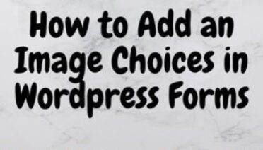 How to Add an Image in WordPress Forms