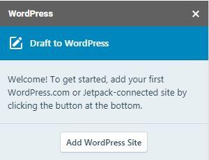 add wordpress site