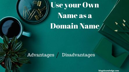 Use own name as a domain name
