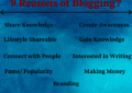 Reason of Blogging