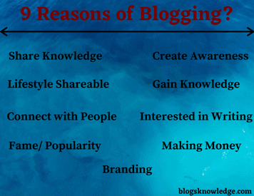 Top 9 Reason Why People Blogging?