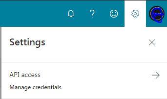 Bing api key