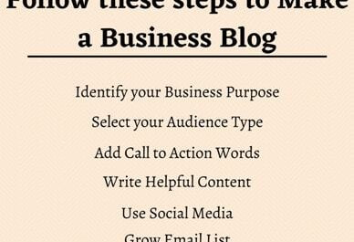 Steps to make a business blog