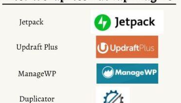4 Best WordPress Backup Plugins for your Website