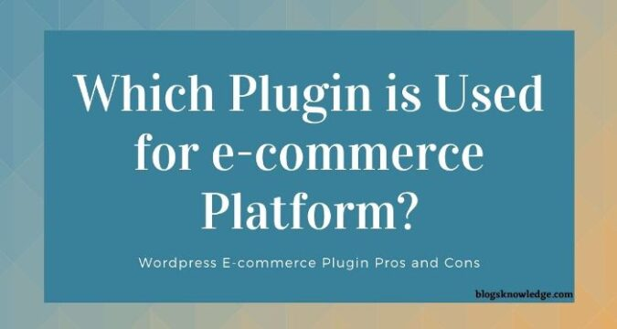 Ecommerce Plugin for Different Purposes ?