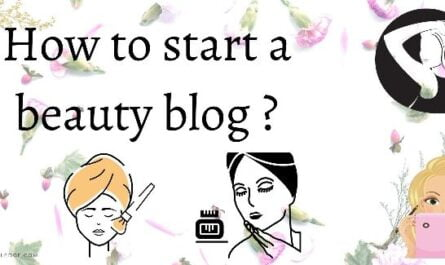 start a beauty blog