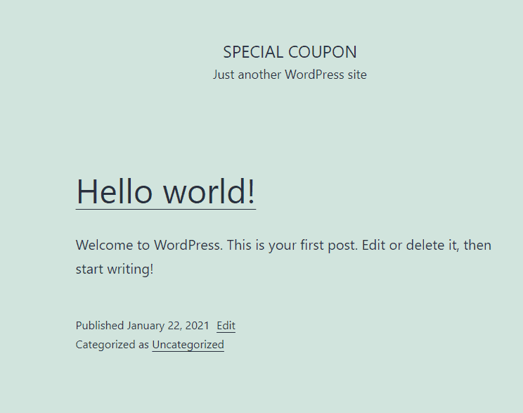Wordpress default theme image