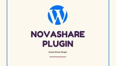 Check this best Social Sharing Novashare Plugin