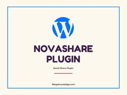 Check this best Social Sharing Novashare Plugin