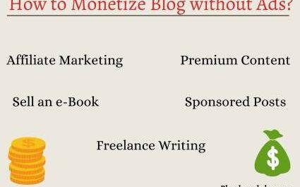 Blog monetization without ads