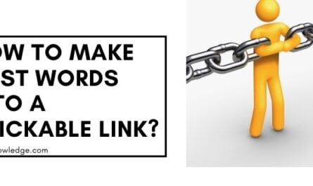 How to Make Post Words into a Clickable link